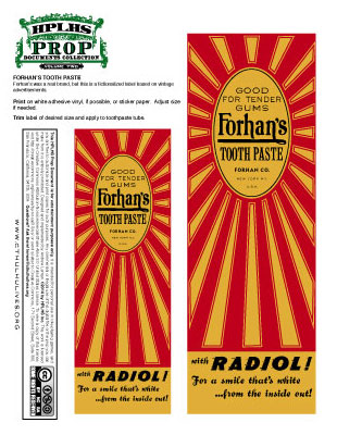 Forhans Label