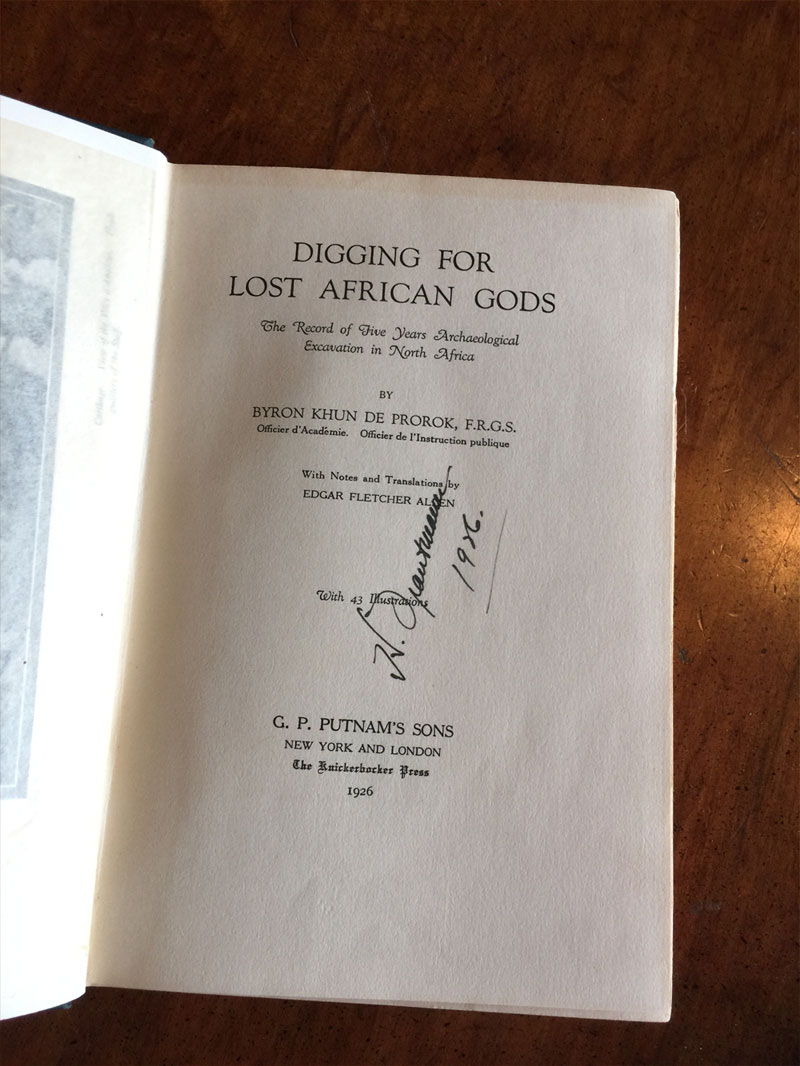 Digging for Lost African Gods title page